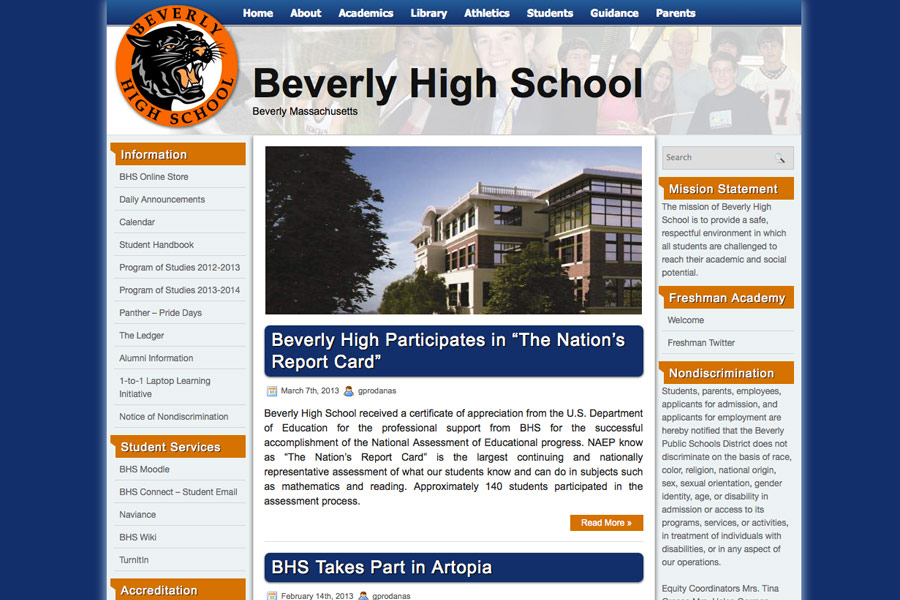 BHSonline.org screen shot