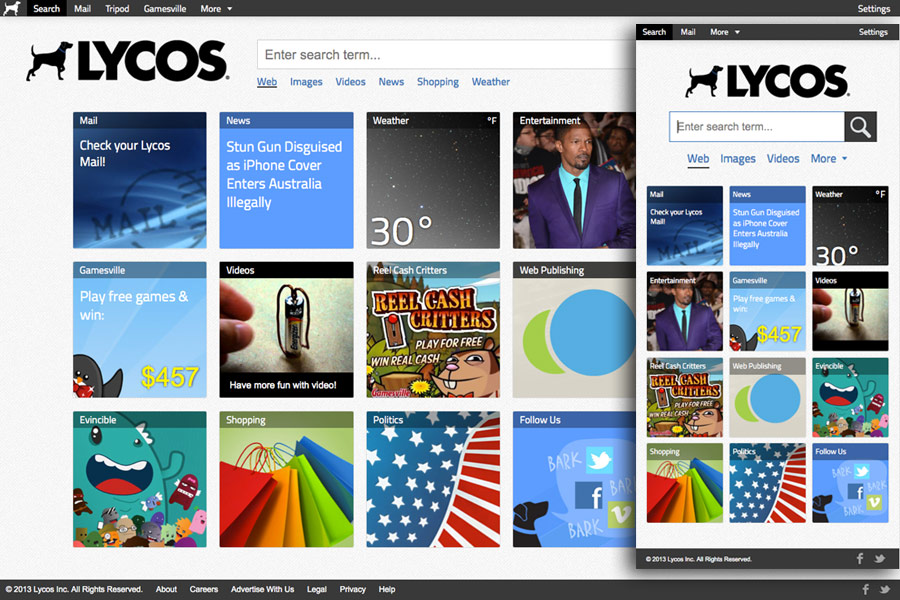 lycos.com screen shot