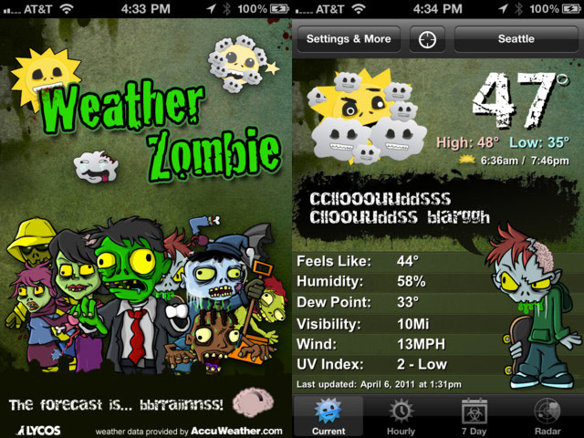 Weather Zombie iOS screen shot